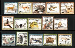 BOTSWANA, 2018 , ANIMALS, BIRDS, REPTILES, 15v.  MNH**, NEW!! - Francobolli