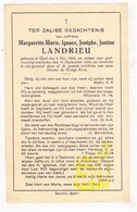DP Marguerite Marie Ign. Landrieu ° Gent 1898 † 1926 - Images Religieuses