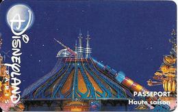 PASS-DISNEYLANDPARIS -1996-SPACE MOUNTAIN-ADULTE-V° N° S 039609 HORIZONTAL En HAUT-VALIDE 1 JOUR-pour 1 INVITE-TBE- - France