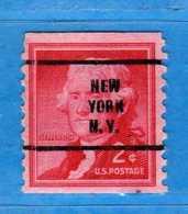 (Us2) USA °- 1954-1961 - T. JEFFERSON. 2. C. Unif. 848. NEW York. USED.  Vedi Descrizione - Stati Uniti