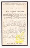 DP Maria J. Lambrecht ° Drongen Gent 1858 † 1933 X August Vlerick - Images Religieuses