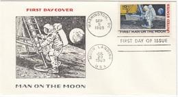 USA 1969 - MiNr: 990  FDC - Mondlandung - FDC & Gedenkmarken