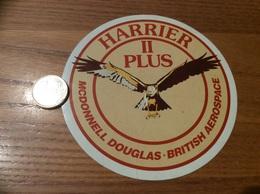 AUTOCOLLANT, Sticker «HARRIER II PLUS MCDONNELL DOUGLAS - BRITISH AEROSPACE» (militaire, Avion, Aigle, Grande-Bretagne) - Autocollants
