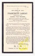 DP Franciscus Labeau ° Oostakker Gent 1857 † 1927 X Leonie Van Damme - Images Religieuses