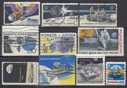 USA - Partie Raumfahrt Mit 10 Verschiedenen - Raumfahrt