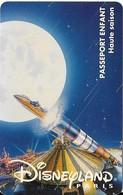 PASS-DISNEYLANDPARIS -1995-SPACE MOUNTAIN-FUSEE-ENFANT-V° N° S 049531- A Droite Vertical-MKC VALIDE 1 JOUR--TBE- - Passeports Disney