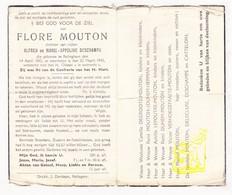 DP Flore Mouton / Deschamps ° Rollegem Kortrijk 1882 † 1945 / Degroote Duhem Lepoutre Delecluse Catteloin Herman - Images Religieuses