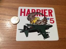 AUTOCOLLANT, Sticker «HARRIER GR5» (militaire, Avion, Aigle, Grande-Bretagne) - Autocollants