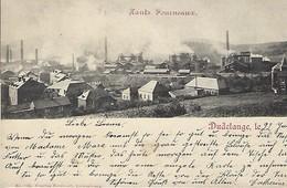 Dudelange ,22 Juin 1900   Hauts  Fourneaux   Edit. Ch. Bernhoeft,Luxembourg - Postkaarten
