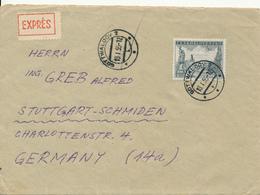 GOTTWALDOV / CSSR - 1955 , Express-Brief Nach Stuttgart - Tschechoslowakei/CSSR