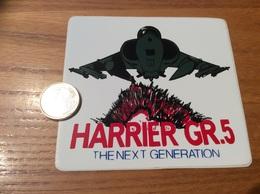 AUTOCOLLANT, Sticker «HARRIER GR5 - THE NEXT GENERATION» (militaire, Avion, Grande-Bretagne) - Autocollants