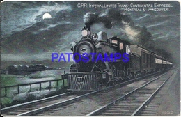 110696 CANADA MONTREAL & VANCOUVER IMPERIAL LIMITED CONTINENTAL EXPRESS TRAIN CIRCULATED TO HOLLAND POSTAL POSTCARD - Unclassified
