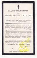DP Karolus Leyzier ° Watou Poperinge 1852 † 1911 - Images Religieuses