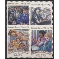 Neuseeland 1993 100 Jahre Frauenwahlrecht 1279/82 Postfrisch - Neuseeland