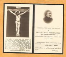 IMAGE GENEALOGIE FAIRE PART AVIS DECES CARTE MORTUAIRE BOURG ARGENTAL  SENECLAUZE GOUTAREL 1930 - Décès