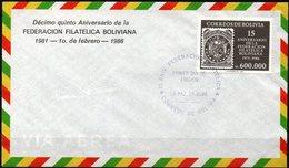 Bolivia 1986 CEFIBOL 1264s SPD XV Aniversario De La Federación Filatélica Boliviana. Sello Sobre Sello. - Bolivie