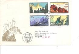 Chine ( Lettre Par Avion En Premier Jour De 1963 Vers La Belgique à Voir) - Storia Postale