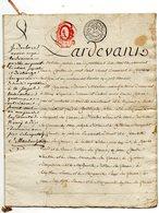 B002 Acquet Notaire Nancy 5 Jour Complementaire An 4 * MAUBON - JOLAIN - Manuscrits