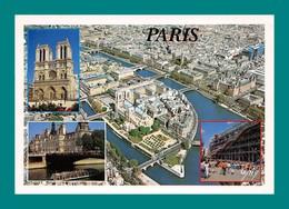 75 Paris Ile De La Cité, Notre Dame, Centre Georges Pompidou ( Multivues ) - Notre Dame De Paris