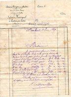 B002 Chene De Gresigne Por Foudres - ROSSIGNOL à LAMBERT ( Tarn ) 1889 - Old Professions