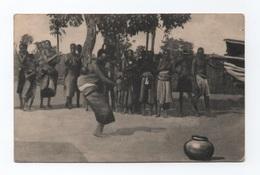 POSTCARD MOZAMBIQUE MOÇAMBIQUE BEIRA 1910years ETHNIC BLACK NATIVE DANCES - Mozambique