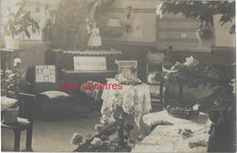 Carte Photo- Saint Sauveur En Puisaye (Yonne) Ecole-Olympe TERRAIN Directrice-exposition De Travaux (poupée...coutures.) - Personnes Identifiées