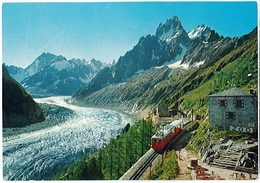 Cpsm 74 CHAMONIX MONT BLANC Montenvers Mer De Glace - Chamonix-Mont-Blanc