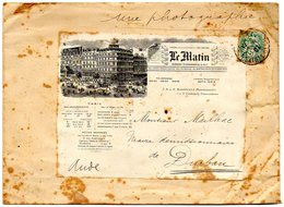 B002 Enveloppe - Le Matin Derniers Telegtrammes De La Nuit Pari  - 1907 ( Taches ) - Autres