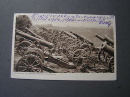 Przemysl , PL Geschütze Feldpostkarte 1917 - Polen