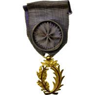 France, Palmes Académiques Officier, Médaille, Excellent Quality, Gilt Bronze - Militaria