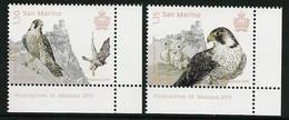 "SAN MARINO/ SAINT-MARIN - EUROPA 2019 -NATIONAL BIRDS.-""AVES - BIRDS - VÖGEL -OISEAUX""- SET Of 2 Stamps CH - 2019"