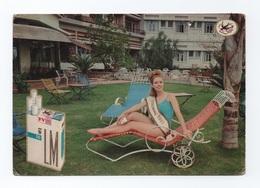 LOURENÇO MARQUES MISS PORTUGAL 1967 MOZAMBIQUE MOÇAMBIQUE Advert Postcard Cigar Cigarette PIN UP GIRL - Mozambique