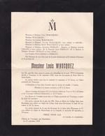 TOURNEPPE BUYZINGEN Louis WAUCQUEZ Famille PIERLOT Enfant 1914-1927 Fils D'un Industriel  élève Saint Jean BERCHMANS - Décès