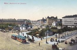 Wien 1: Naschmarkt Mit Secession 1917 !!! - Vienna