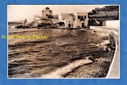 Photo Ancienne - CRETE ? SANTORIN ? MYKHONOS ? - Gréce - Port à Situer - Eglise Architecture Antiquity History Greece - Lieux