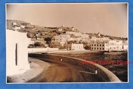 Photo Ancienne - CRETE ? SANTORIN ? MYKHONOS ? - Gréce - Port à Situer - Moulin à Vent Architecture History Greece - Lieux