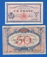 Roanne  2  Billets - Chambre De Commerce
