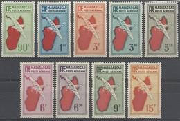 MADAGASCAR 1941 YT PA 16/24** SERIE COMPLETE** - Poste Aérienne