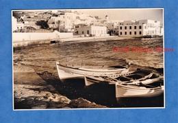 Photo Ancienne - CRETE ? SANTORIN ? MYKHONOS ? - Gréce - Port à Situer - Canot Mapaki History Greece - Bateaux