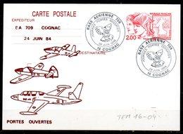 TEM16-04 : Dept 16 (Charente) COGNAC 1988 Portes Ouvertes Entier Dunkerque 84 Repiqué 1 - Postmark Collection (Covers)