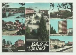 SALUTI DA TRINO   - VEDUTE   VIAGGIATA FG - Vercelli