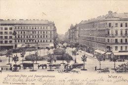 Wien 4: Favoritenstraße Favoritenplatz (heute Südtirolerplatz) 1908 !!! - Vienne