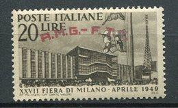 Trieste Zona A -Fiera Di Milano (1949) ** - Trieste
