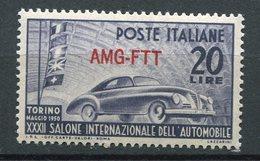 Trieste Zona A - Salone Internazionale Dell'Automobile (1950) ** - Trieste