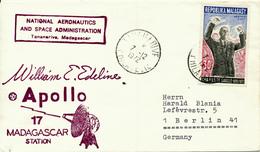 TANANARIVE / Malagasy - 1972 , Charles De Gaulle , Apollo 17 Mdagascar Station - Nach Berlin - Madagascar (1960-...)