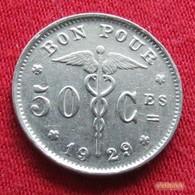 Belgium 50 Centimes 1929 KM# 87 Belgique Belgica Belges Belgie - Belgique
