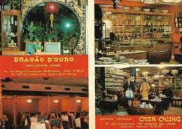 Portugal Lisboa Postal Publicitário Restaurante Dragão D'Ouro E Casa Chung - Hotels & Restaurants