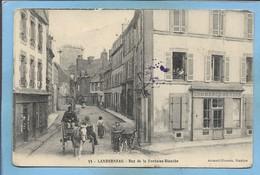 Landerneau (29) Rue De La Fontaine-Blanche 2scans 1915 Commerce De Vins Attelage Chien Cachet Du 128e R. Infanterie - Landerneau