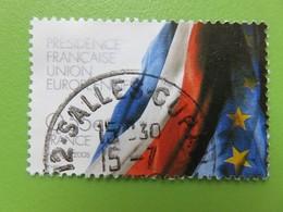 Timbre France YT 4246 - Grands Projets Européens - Drapeaux Français Et Européens - 2008 - Cachet Rond - France