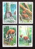 Congo/Zaire 1984; WWF Animals & Fauna; Mammals; Okapi; MNH, Neuf**, Postfrisch; - Zaire